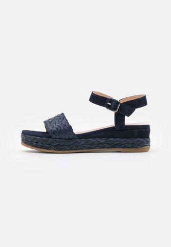 GABIR - Platform sandals - ocean