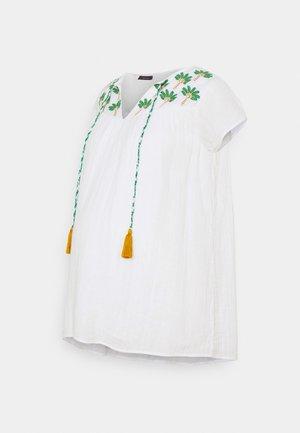 CLIMBING PALMS - T-shirt z nadrukiem - white