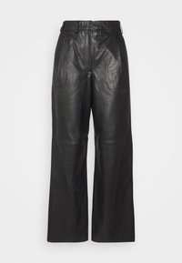 Lovechild - LUCAS - Leather trousers - black - 5