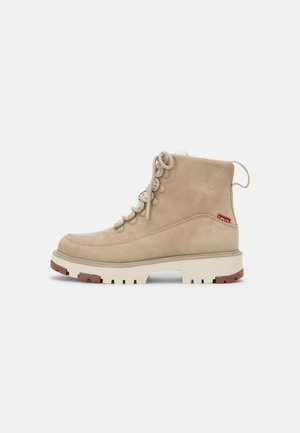 SOLVI - Lace-up ankle boots - beige