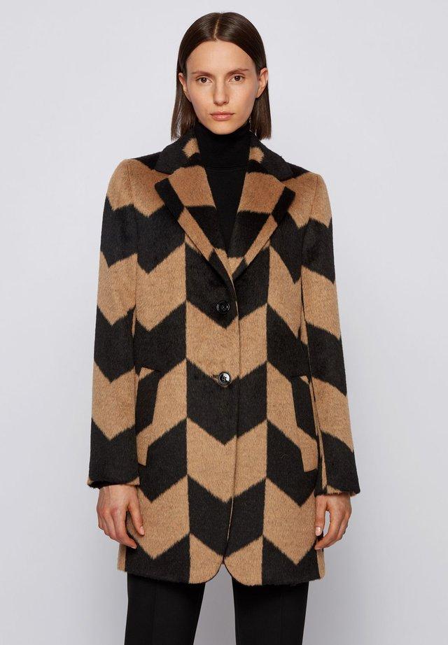 COLUCE - Manteau classique - black/light brown