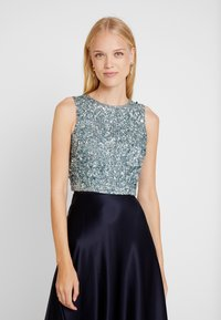 Lace & Beads - PICASSO - Top - teal - 0