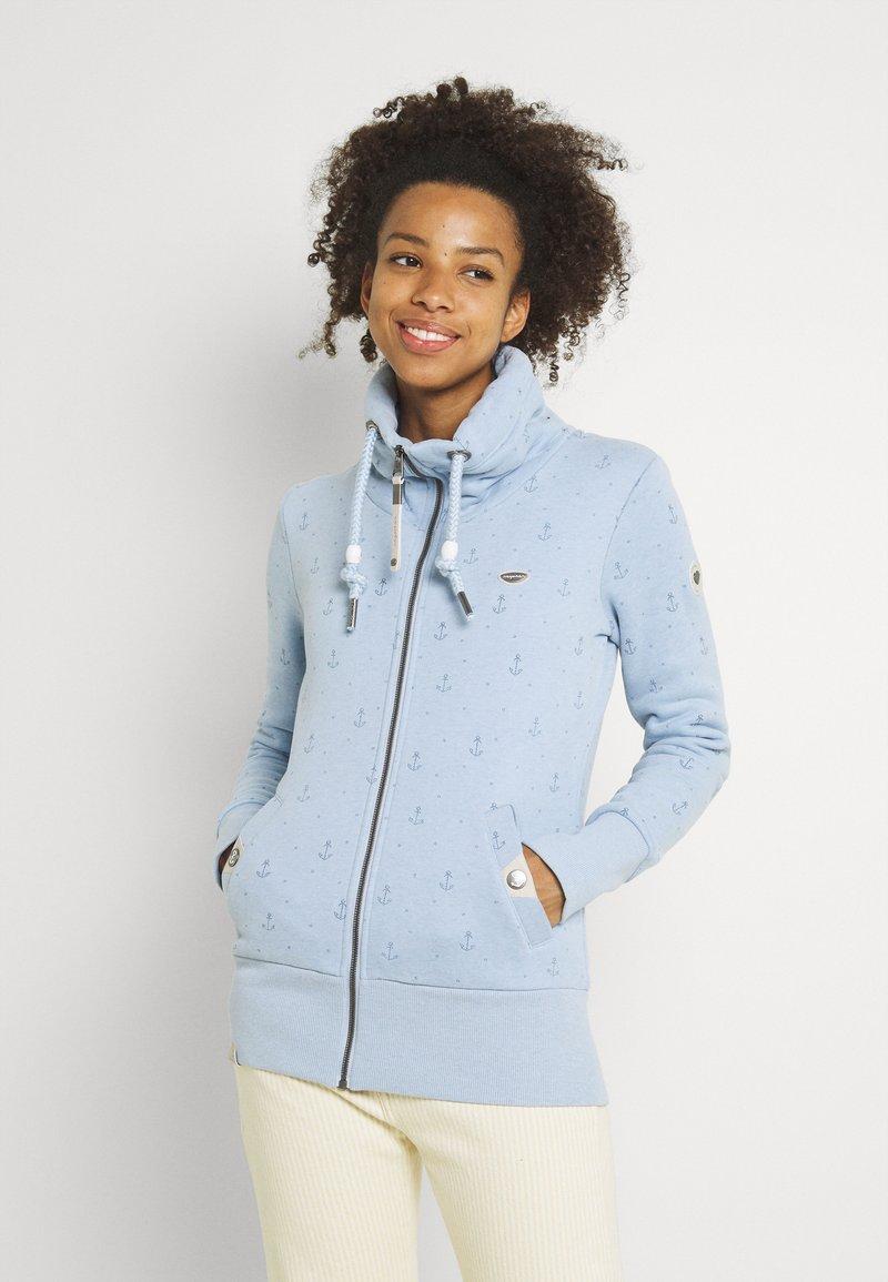 Ragwear - RYLIE MARINA ZIP - Mikina na zip - light blue