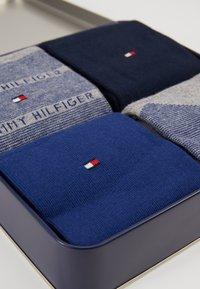 Tommy Hilfiger - 4 PACK MEN GIFTBOX ARGYLE - Socks - dark blue/grey/blue - 2