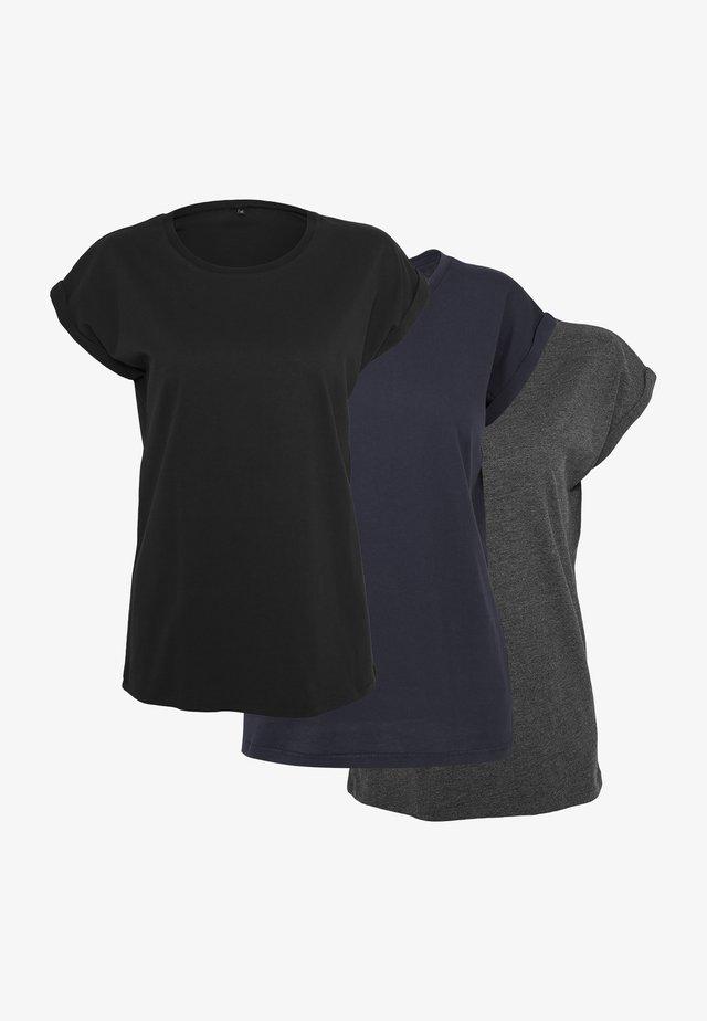 T-shirts basic - blk/nvy/char