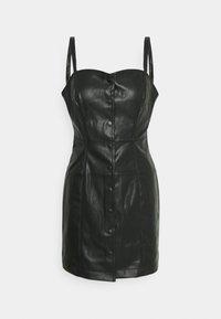 Miss Selfridge - CROC CAMI BUTTON THROUGH DRESS - Day dress - black - 0