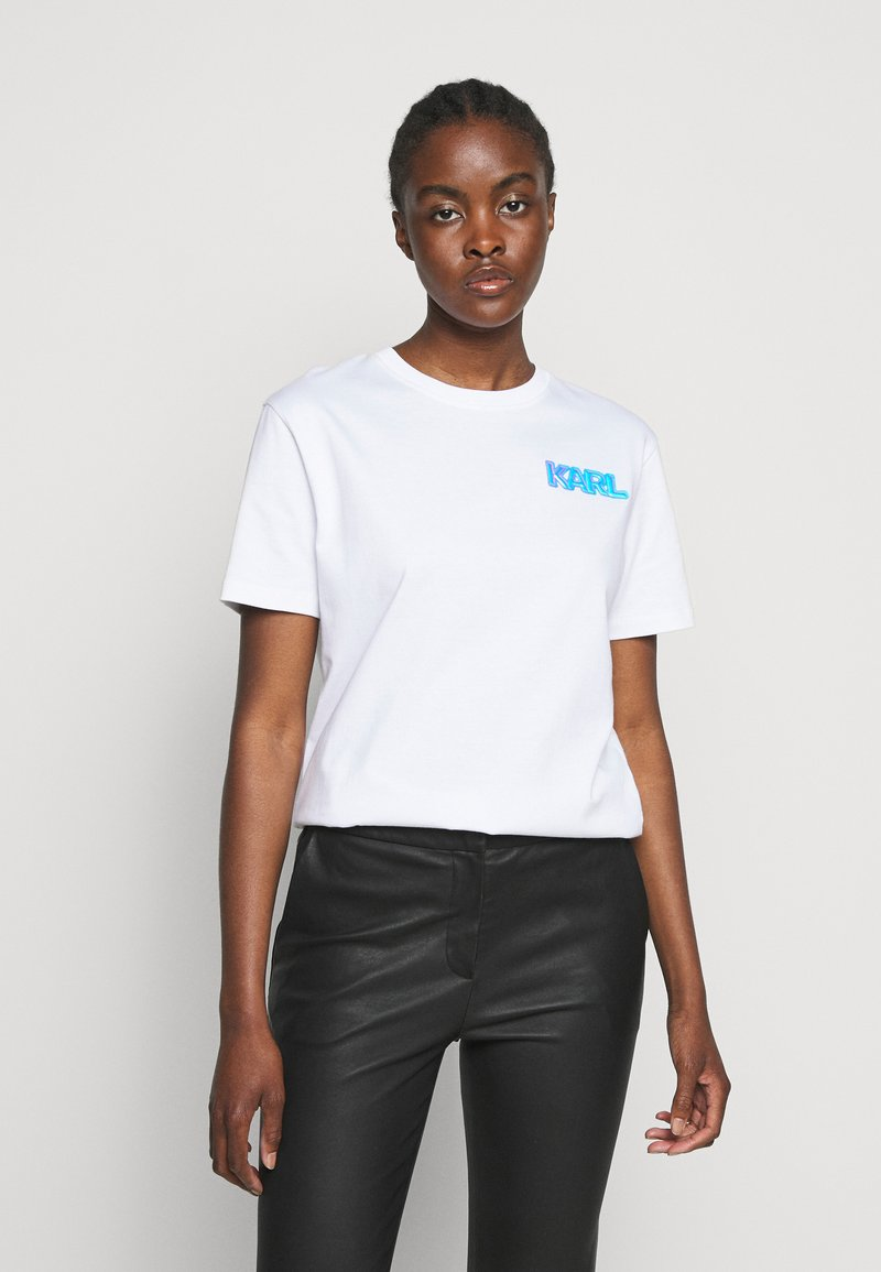 KARL LAGERFELD - MINI BALLOON LOGO TEE - Print T-shirt - white