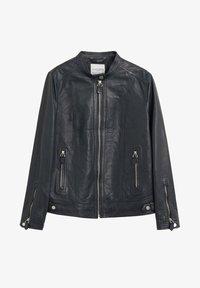 Violeta by Mango - CHELSEA7 - Leather jacket - dunkles marineblau - 4