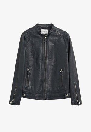 CHELSEA7 - Leather jacket - dunkles marineblau