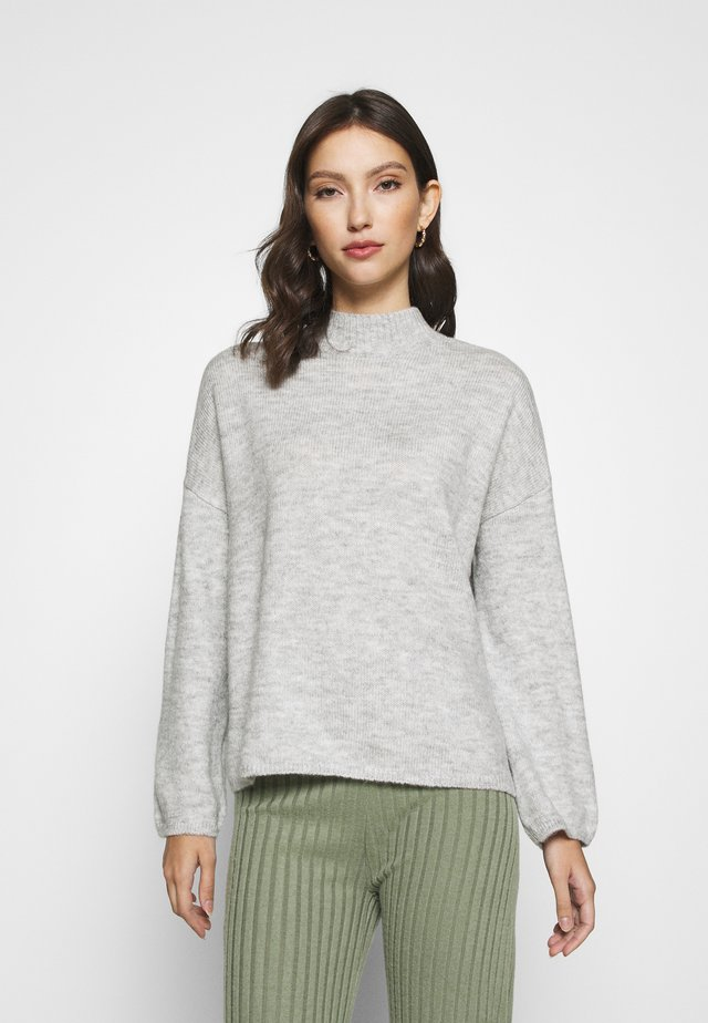 VIFAUNIA - Strikkegenser - light grey melange