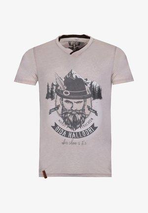 TRACHTEN HALLODRI  - Print T-shirt - beige