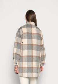Stella Nova - EMMY - Classic coat - grey/creme/brown checks - 2