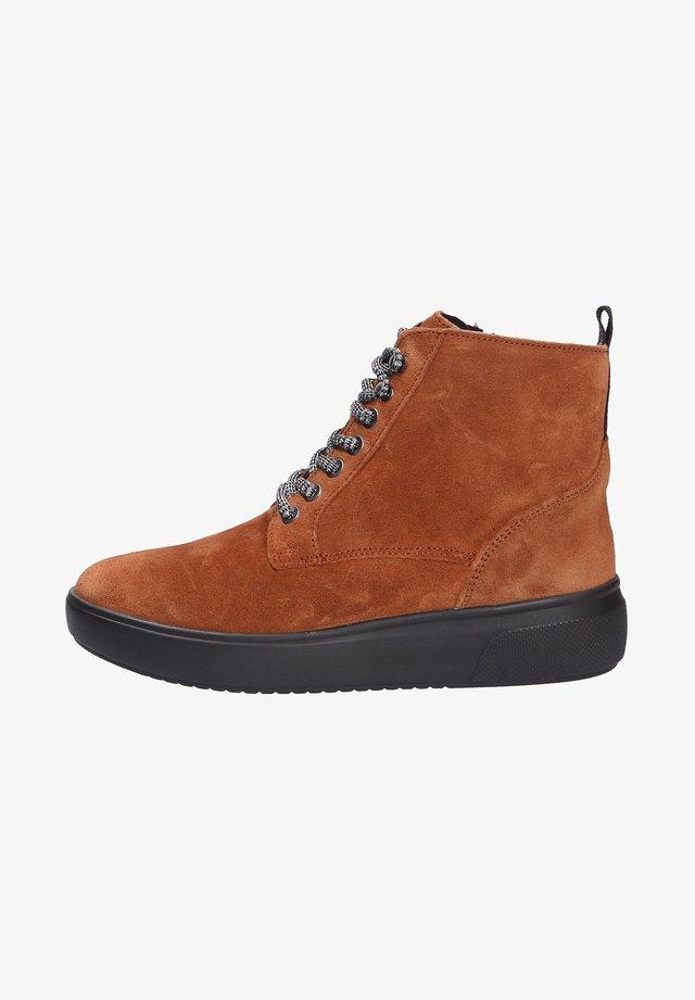 Korte laarzen - cognaclsschwarz