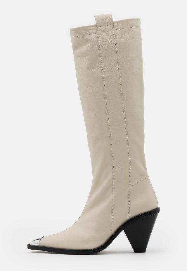 TULIP POINT KNEE - Boots - buttermilk