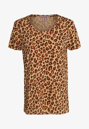 PRINTED BOXY FIT TEE - Print T-shirt - brown