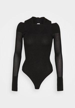 DRAPED HALTER NECK BODYSUIT - Jumper - black