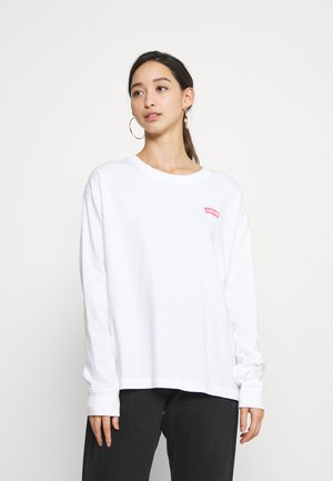 GRAPHIC OVERSIZE TEE - Longsleeve - nature white