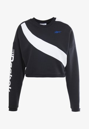 WOR COLORBLOCKED CREW - Sweatshirt - black