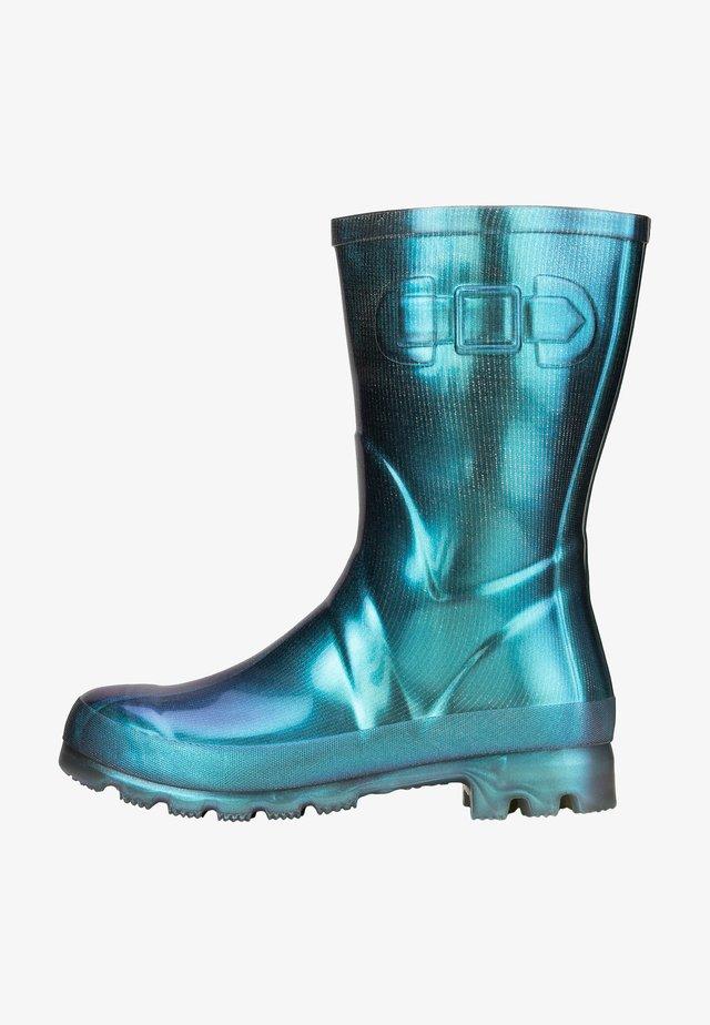 Boots - türkis glänzend