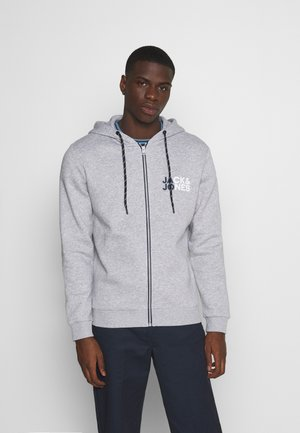 JJBO ZIP HOOD - Sweatjacke - light grey melange/new light grey