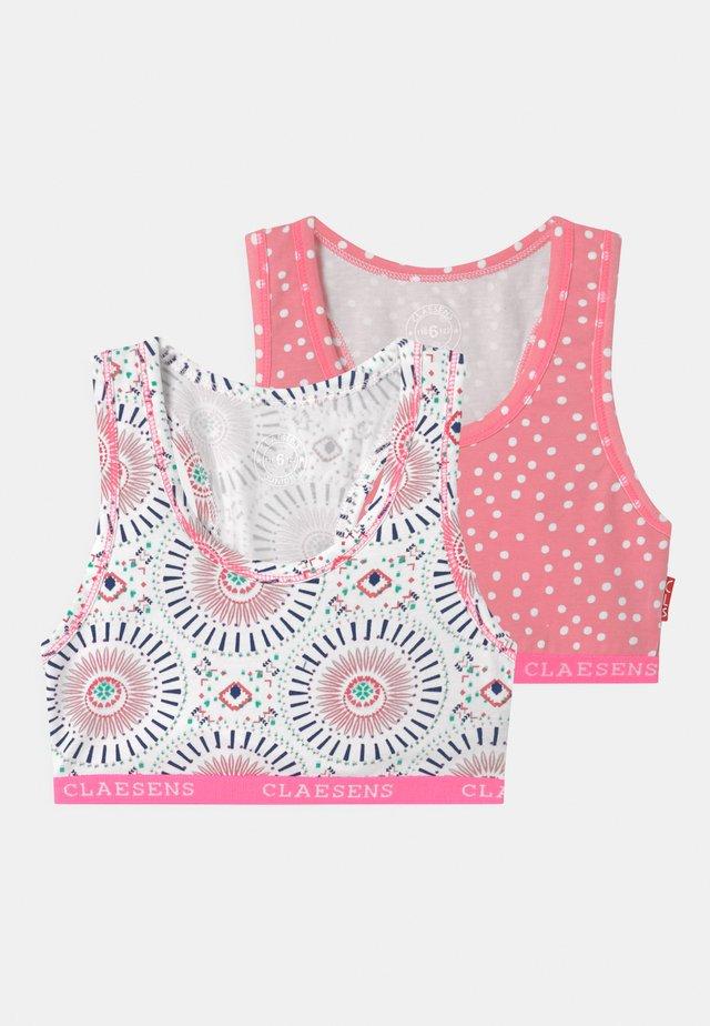 GIRLS HEARTS 2 PACK - Korzet - pink