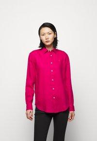 Polo Ralph Lauren - PIECE DYE - Button-down blouse - sport pink - 0