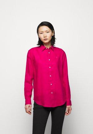 PIECE DYE - Button-down blouse - sport pink