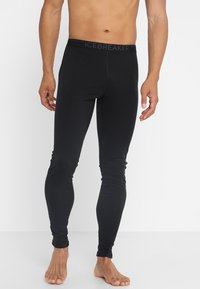Icebreaker - OASIS LEGGINGS - Långkalsonger - black/monsoon - 0