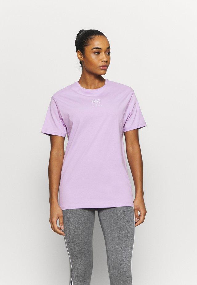 HERON BOYFRIEND - Basic T-shirt - lilac