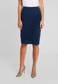 Yargici - PENCIL SKIRT - Jupe crayon - navy melange - 0
