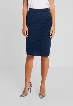 PENCIL SKIRT - Pouzdrová sukně - navy melange