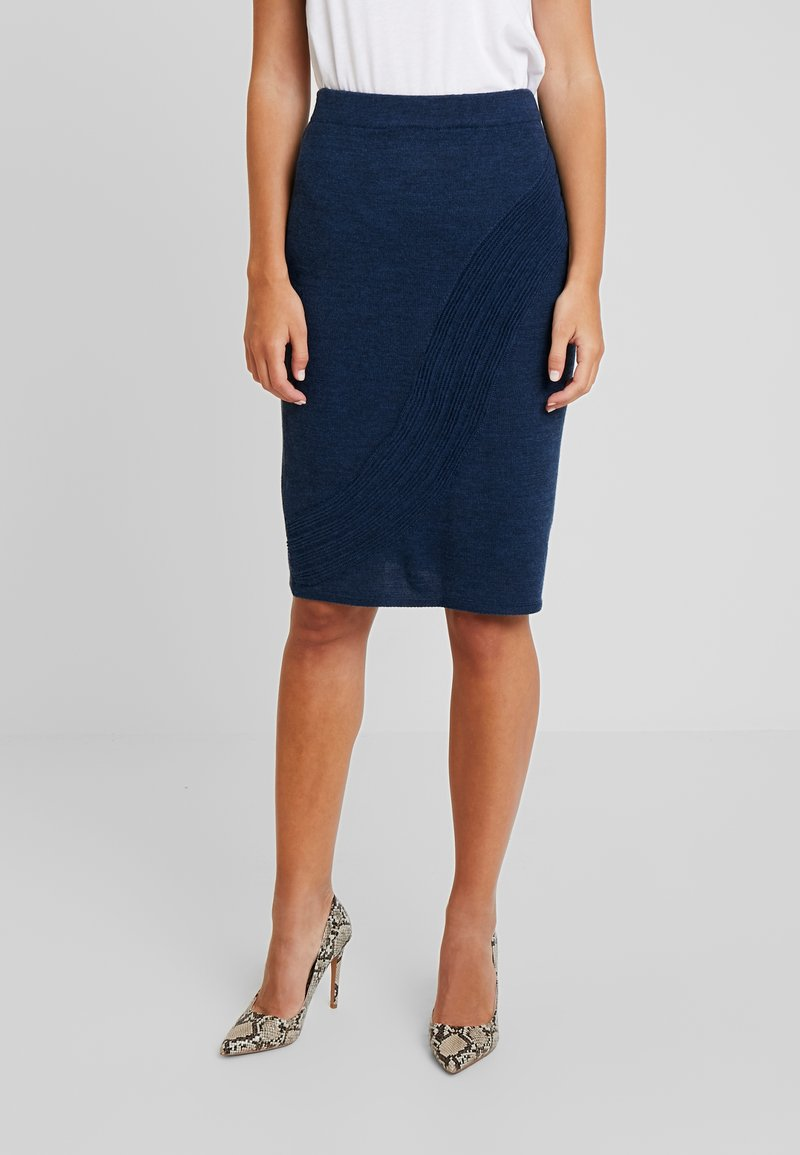 Yargici - PENCIL SKIRT - Jupe crayon - navy melange