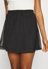 Even&Odd - BASIC - Mesh mini skirt - A-line skirt - black - 5