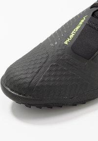Nike Performance - PHANTOM ACADEMY TF - Kopačky na umělý trávník - black/volt - 2