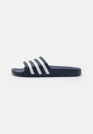 ADILETTE AQUA UNISEX - Pool slides - dark blue/footwear white