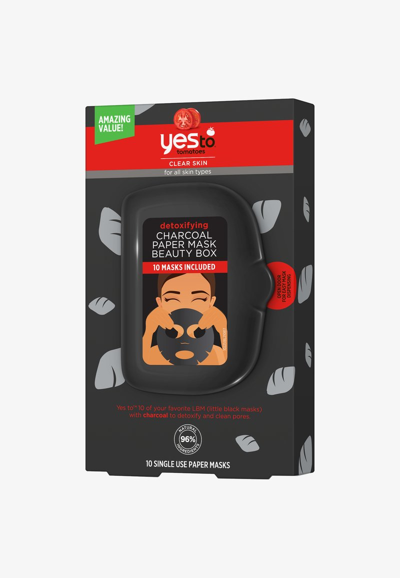Yes To - YES TO TOMATOES DETOXIFYING CHARCOAL PAPER MASK BEAUTY BOX 10 PACK - Masker - -