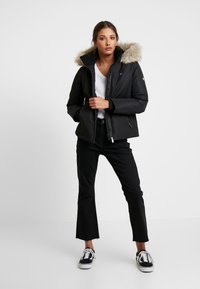 Tommy Jeans - HOODED JACKET - Down jacket - black - 1