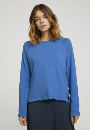 Long sleeved top - mid blue