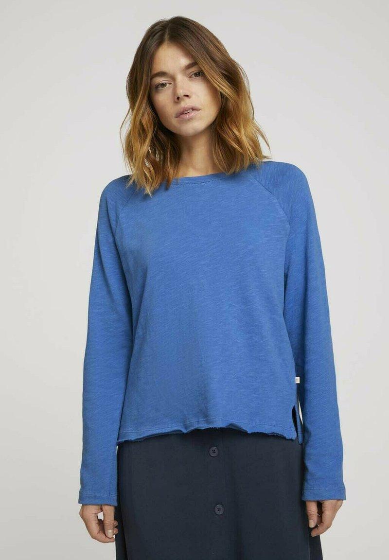 TOM TAILOR DENIM - Long sleeved top - mid blue
