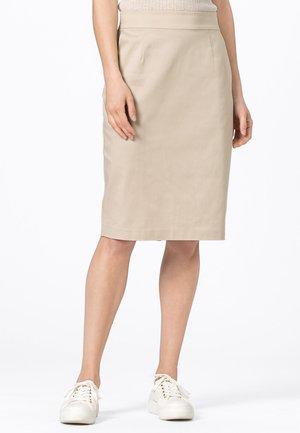 LETIZIA - Pencil skirt - hellbeige