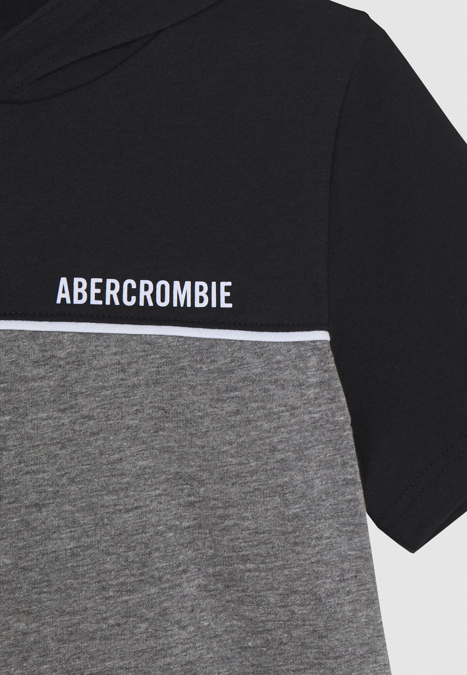 Abercrombie & Fitch Hooded Tee - T-shirts Med Print Black/grey