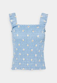 Pieces - PCMARY STRAP SMOCK - Toppe - blue fog - 6