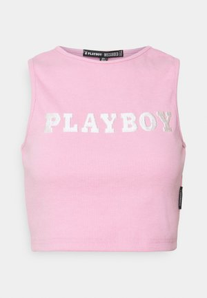 PLAYBOY SPORTS RACER CROP - Top - pink