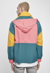 Starter - MULTICOLORED LOGO - Summer jacket - green/yellow/pink - 2