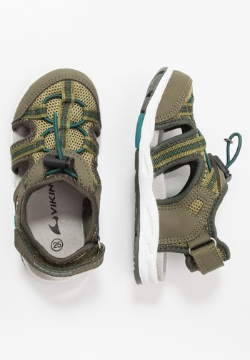 THRILL UNISEX - Walking sandals - olive/huntinggreen
