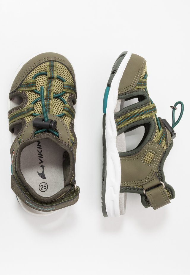 THRILL UNISEX - Outdoorsandalen - olive/huntinggreen