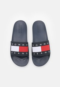Tommy Jeans - FLAG POOL SLIDE - Mules - twilight navy