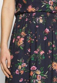 Vila - VIBILLY LONG FLOWER SKIRT - Maxi skirt - navy blazer/red - 4