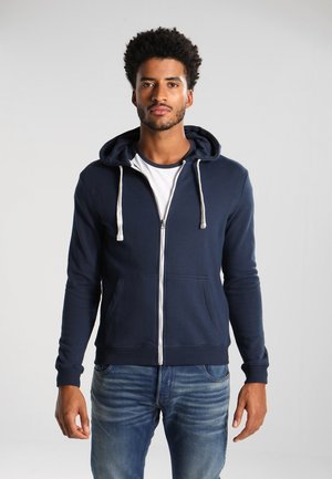Mikina na zip - dark blue