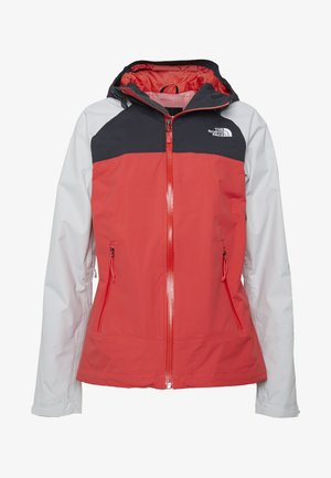 STRATOS JACKET - Hardshelljacka - cayenn red/tingry/asphalt grey